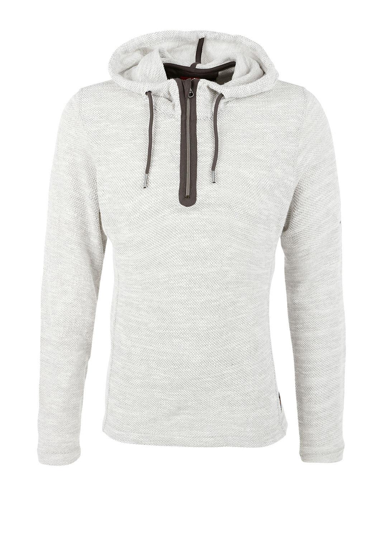 buy melange sweatshirt with hood s oliver shop. Black Bedroom Furniture Sets. Home Design Ideas