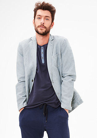 Linen sports jacket with a washed finish from s.Oliver