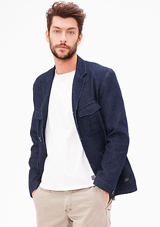 Sports jacket with a woven texture from s.Oliver