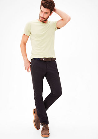 Sneck slim: chino met canvas riem