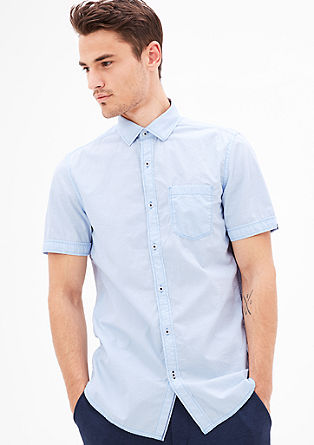 Slim: cotton shirt with short sleeves from s.Oliver