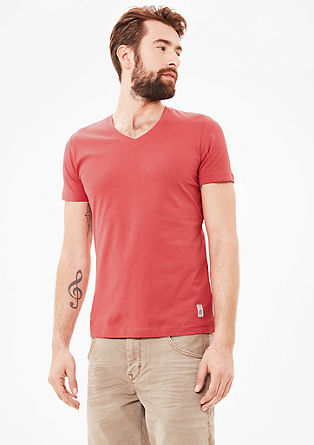 Basic V-neck T-shirt from s.Oliver