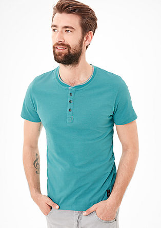T-shirt with a button placket from s.Oliver