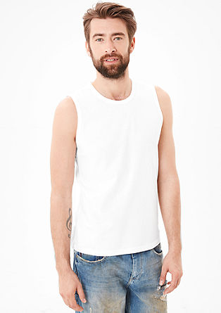 Loose-fitting cotton jersey tank top from s.Oliver