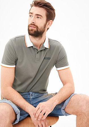 Poloshirt mit Label-Stitching