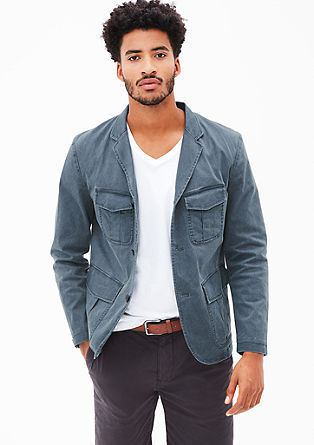 Regular: Sports jacket with a washed finish from s.Oliver
