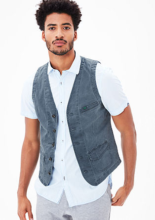 Waistcoat with a washed finish from s.Oliver