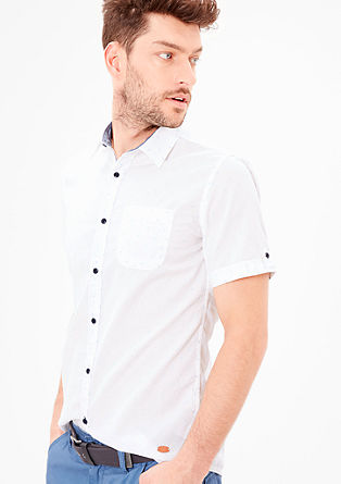 Slim: shirt with a polka dot texture from s.Oliver