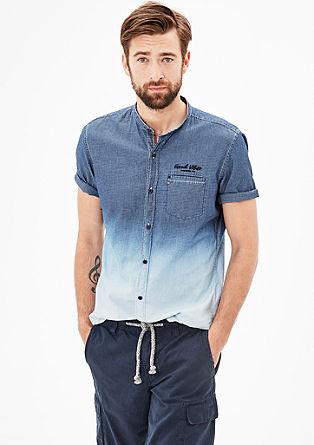 Slim: Hemd in Dip Dye-Optik