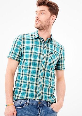 Slim: Kariertes Kurzarmhemd