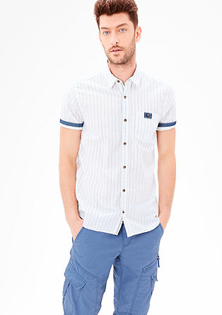 Regular: Blended linen shirt from s.Oliver