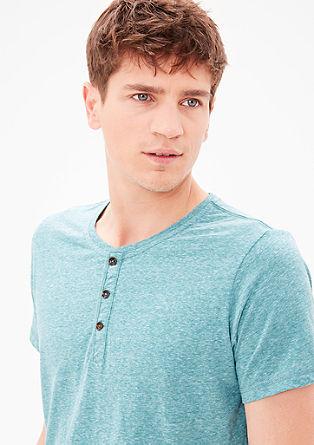 Slim: Meliertes Henleyshirt