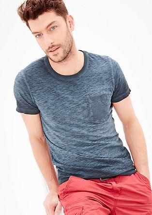 Slim: Shirt in Cold Pigment Dye