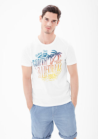 Jersey shirt met een holiday print