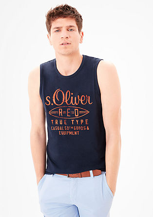 Logo jersey tank top from s.Oliver
