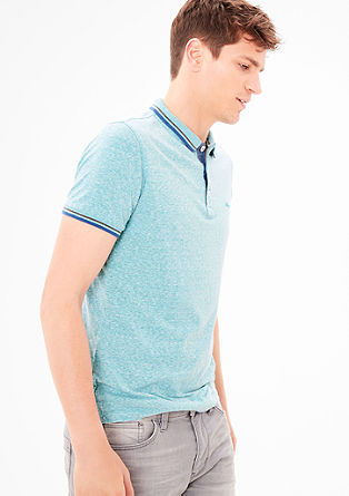 Slim: Melange polo shirt from s.Oliver