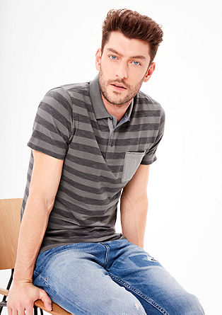 Slim: Polo shirt with stripes from s.Oliver