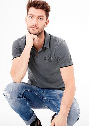 Poloshirt mit Wascheffekt