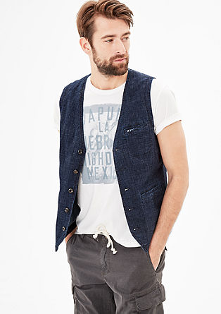 Casual denim waistcoat from s.Oliver