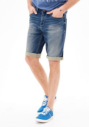 Tubx Straight: Softe Denim-Bermuda