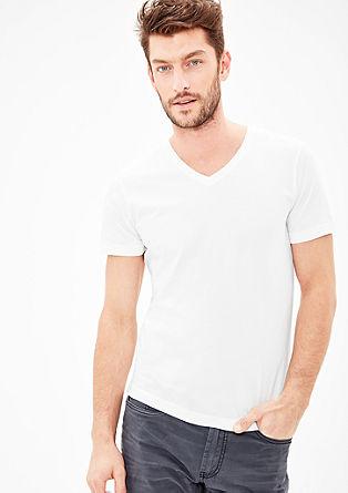 Basicshirt mit V-Neck