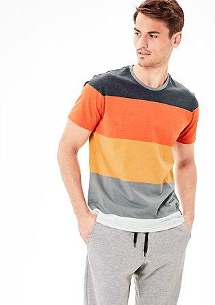 Jerseyshirt mit Blockstreifen