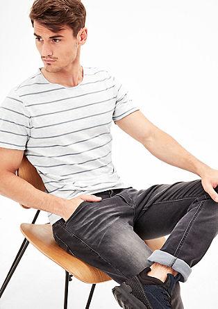 Gemêleerd shirt met strepen