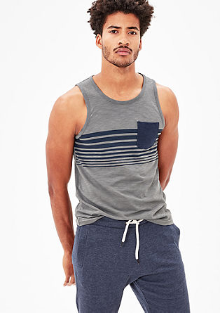 Vest top with a stripe print from s.Oliver