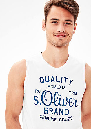 Vest with a label print from s.Oliver