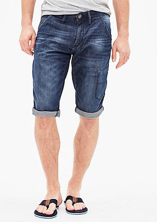 Tubx Straight: Denim-Bermuda