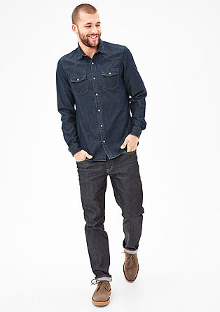 Slim: Lightweight denim shirt from s.Oliver