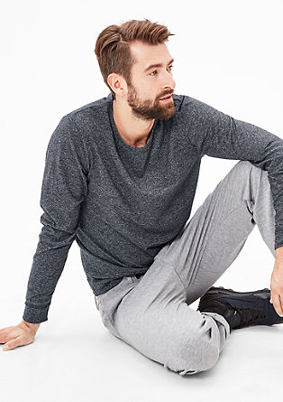 Sweatshirt with a melange finish from s.Oliver
