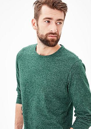 Sweatshirt im Melange-Look