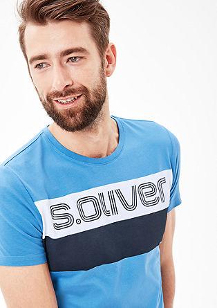 Printshirt mit Colour Blocking