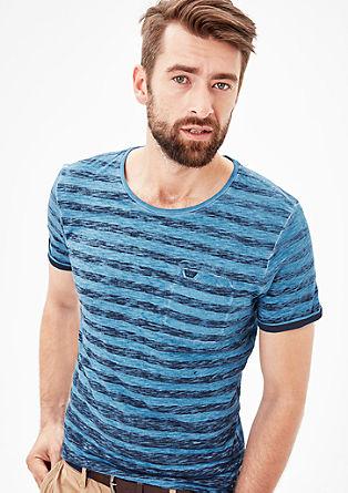 Shirt mit strukturiertem Print