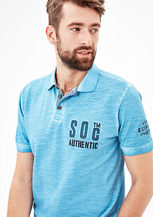 Polo shirt in a garment-dyed look from s.Oliver