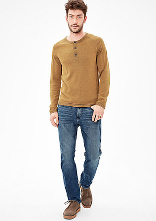 Pullover in Melange-Optik