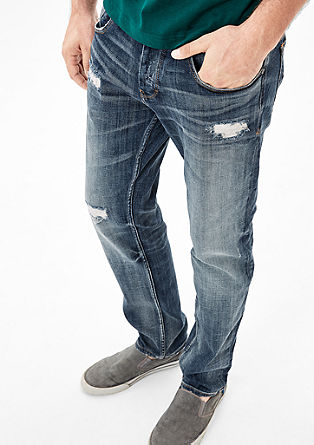 Tubx Straight: Destroyed Denim