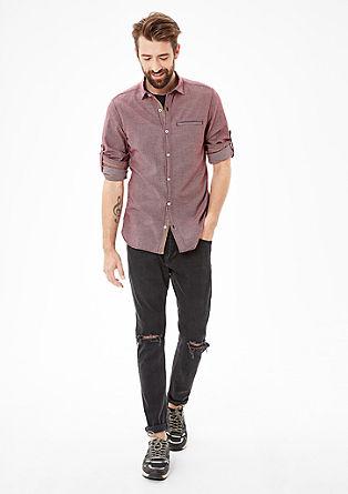 Slim: Hemd mit Strukturkaros