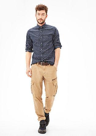 Slim: Twill-Hemd mit Musterprint
