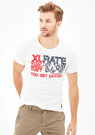 Slim: T-Shirt mit Two-Tone-Print