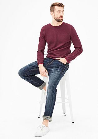 Meliran pulover s pleteno teksturo