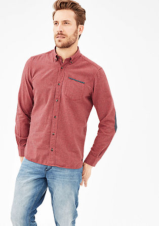 Slim: glencheck shirt with contrast details from s.Oliver