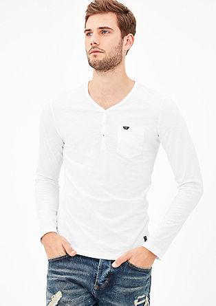 Henleyshirt in Pigment Dye