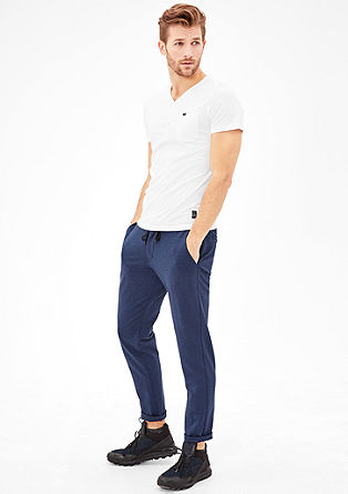 Henley T-shirt with a garment-washed effect from s.Oliver