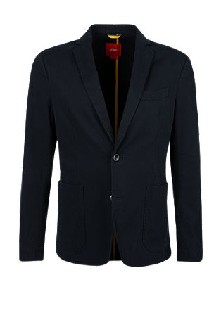 Regular: ribbed stretch sports jacket from s.Oliver