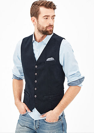 Textured waistcoat with a pocket square from s.Oliver