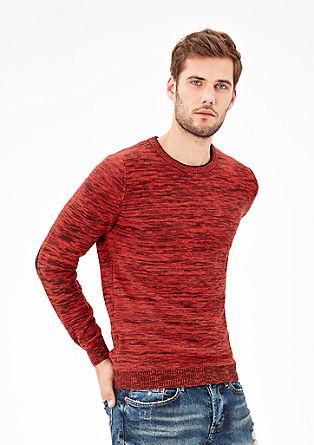 Gemêleerde gebreide trui
