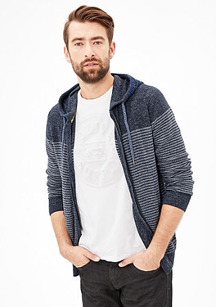 Hooded jacket with stripes from s.Oliver