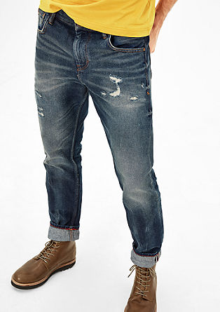 Tubc Tapered: Distressed Jeans